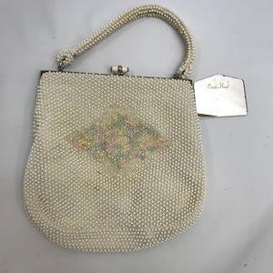 Handbags - Vintage Corde Bead Beaded Purse Bag